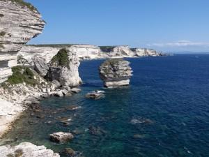 Los acantilados de Bonifacio (Francia)