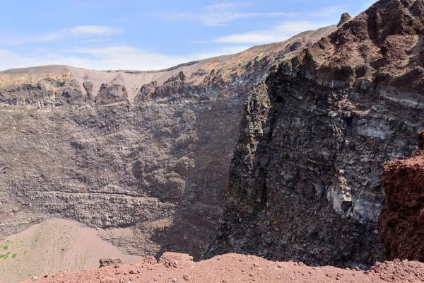 Cráter de un volcán