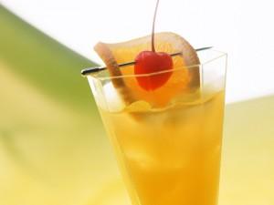Postal: Bebida con naranja