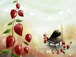 Postal: Piano mágico