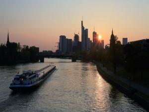 Frankfurt al atardecer