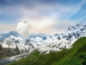 Postal: Apple en la montaña