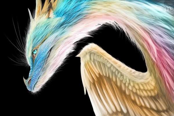 Dragón de colores