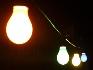 Bombillas dando luz