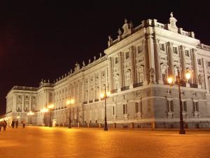Fachada este del Palacio Real de Madrid (España)