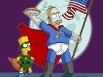 Homer y Bart héroes