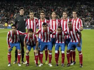 Postal: Jugadores del Atlético de Madrid