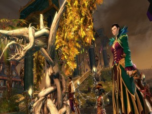 Postal: Camino a la ceremonia (Guild Wars 2)