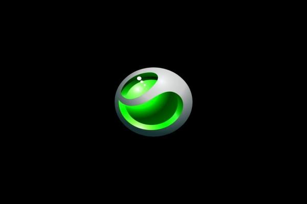 Sony Ericsson en fondo negro
