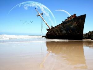 Postal: Buque naufragado