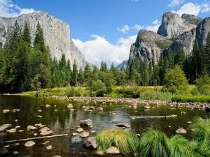 Postal: Valley View, en el Parque Nacional Yosemite