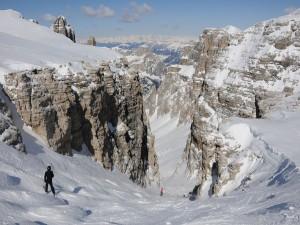 Postal: Esquiando en la nieve