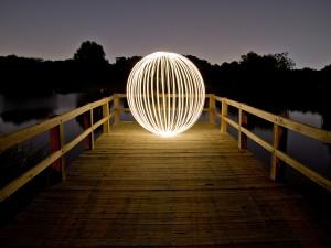 Postal: Bola con luz