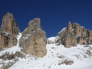 Postal: El Grupo Sella en los Dolomitas