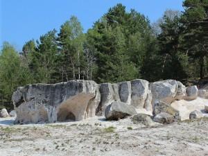 Arenas de cuarzo silicificados en la abandonada mina de Gotthold