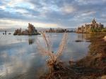 El lago Mono al atardecer