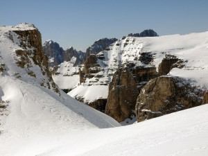 Postal: Montañas cubiertas de nieve