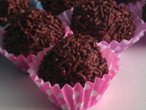 Postal: Bolas de chocolate