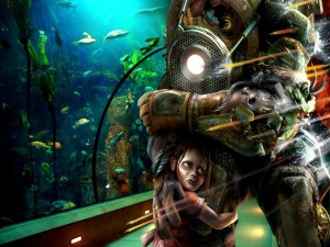 "Postal: Big Daddy y Little Sister ""Bioshock"""