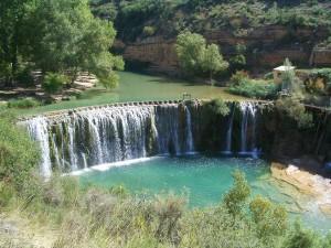 Postal: El Salto de Bierge en el río Alcanadre (España)