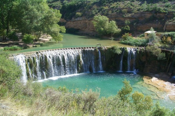 El Salto de Bierge en el río Alcanadre (España)