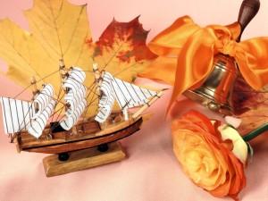 Postal: Barco de madera