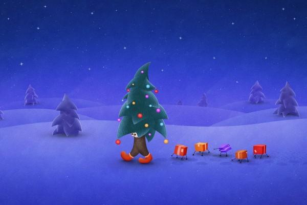 Un árbol de Navidad andante