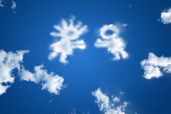 Nubes con forma de niños