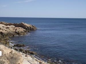 Postal: El azul del mar