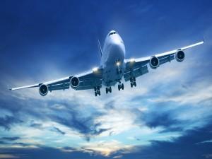Postal: Avión en el aire