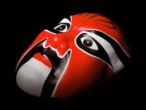 Postal: Máscara roja