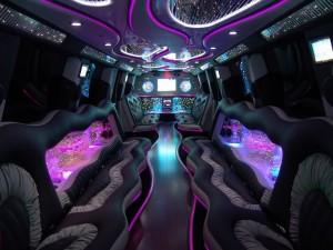 Interior de una limusina