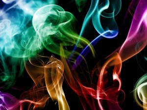 Humo coloreado