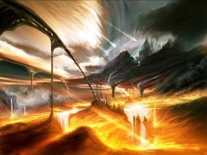 Postal: Reino de lava