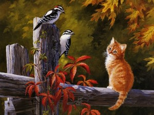 Postal: Amigos de otoño