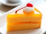 Porción de pastel esponjoso
