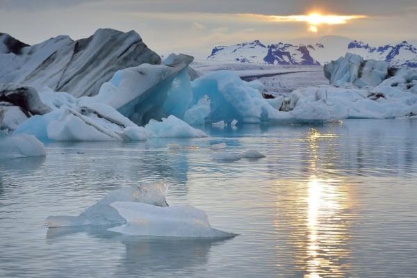 Hielo en el océano Atlántico