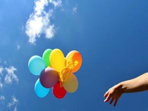 Soltando unos globos