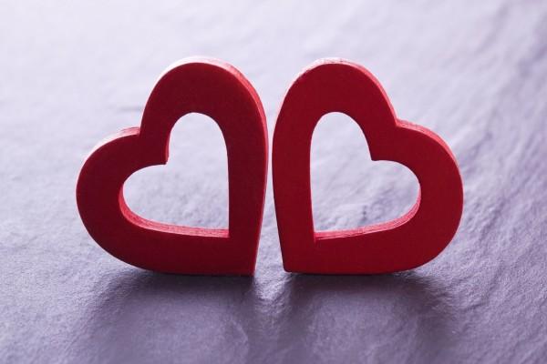 Dos corazones juntos