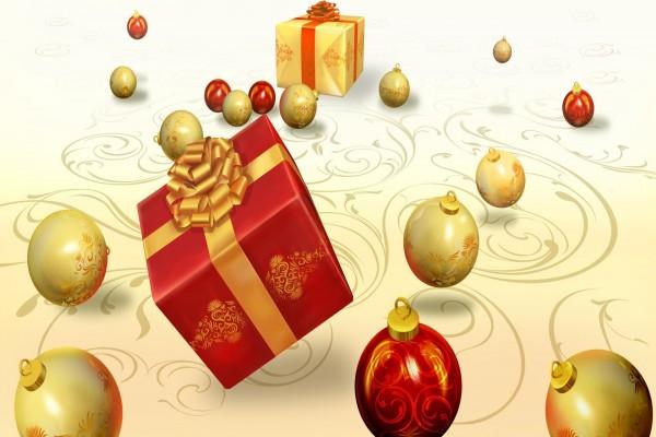Regalos y bolas para las fiestas navideñas