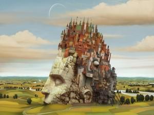 Postal: Pintura de Jacek Yerka