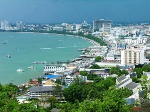 Postal: Vista panorámica de la ciudad de Pattaya, Tailandia