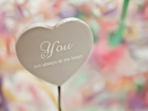 Postal: Tu estás siempre en mi corazón