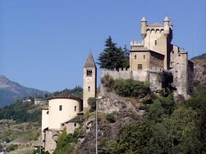 Postal: Castillo de Saint-Pierre (Valle de Aosta, Italia)