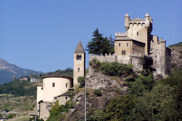 Castillo de Saint-Pierre (Valle de Aosta, Italia)