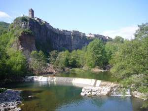 Postal: Castellfullit de la Roca (Cataluña)