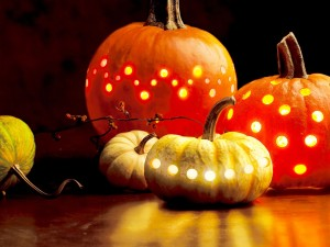 Postal: Calabazas para Halloween