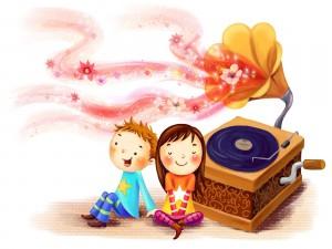 Postal: Escuchando canciones de amor
