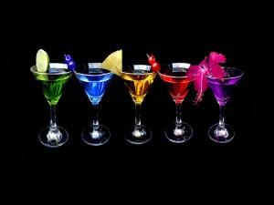 Cocktails con diferentes frutas