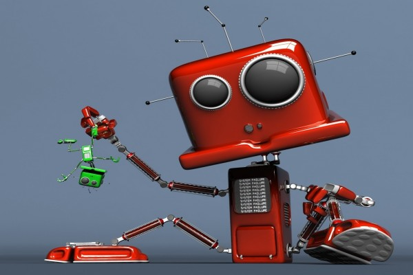 Un robot abusón